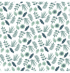 spring blooming flowers and foliage bush vector image