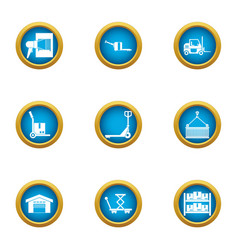 Strain icons set flat style vector