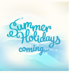 Summer holidays concept with logo vector
