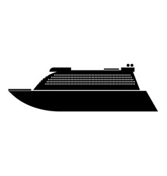 Transatlantic cruise liner black color icon vector