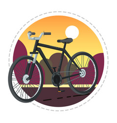 vintage bicycle icon in flat design vector image