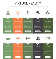 Virtual reality infographic 10 option ui design vector