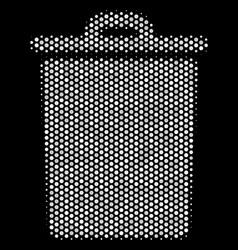 white pixelated trash bin icon vector image
