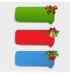 winter banner with christmas toys transparent vector image