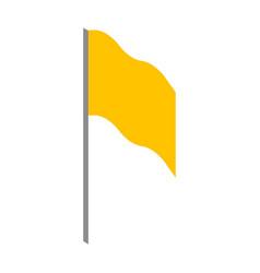 yellow flag icon isometric style vector image