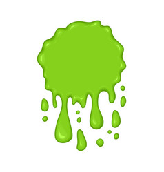 - green slime drips vector image vector image