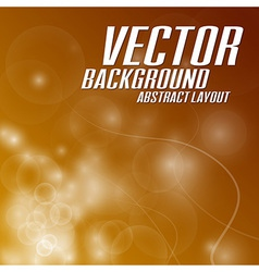 background light abstract orange vector image