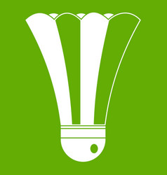 black and white shuttlecock icon green vector image