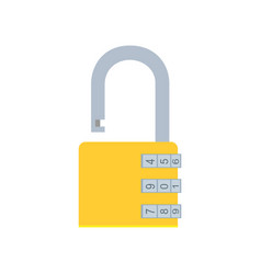 combination lock padlock icon security safe vector image