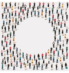 Group people shape circle vector