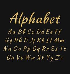 handwritten alphabet uppercase and lowercase vector image