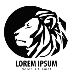 lion logo design template wildlife or zoo icon vector image