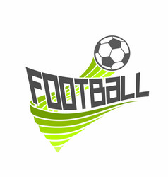 logo for football vector image vector image