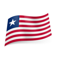 national flag of liberia red and white horizontal vector image