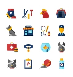 Pet Vet Icons Set vector image