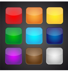 Set of color apps icons - background vector image vector image