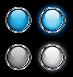 shiny rollover web buttons vector image