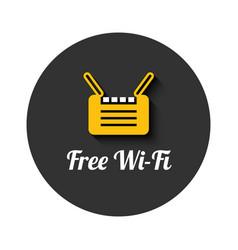 Wi-fi free icon vector