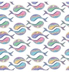 Yin yang whale pattern vector image
