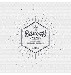 Bakery Handwritten inscription Hand drawn vector image