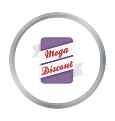 Mega discount icon in cartoon style isolated on vector image