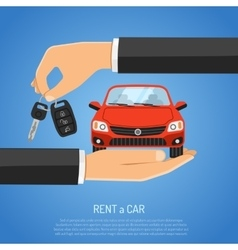 Rent Car Concept vector image