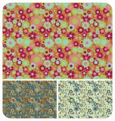 retro flowers set vector image vector image