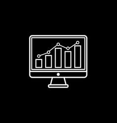 seo monitoring line icon vector image