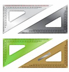 set of drafting triangles vector image