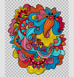 floral tattoo artwork on transparent background vector image vector image