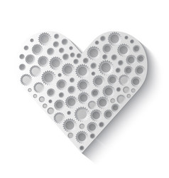 gears in shape of heart vector image