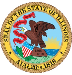 Illinois seal vector image vector image