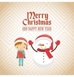 little kids in christmas celebration vector image