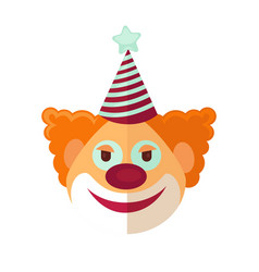 red clown from circus drawn icon cartoon style on vector image