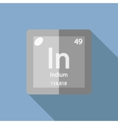 Chemical element Indium Flat vector image vector image
