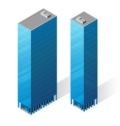 isometric skyscrapers icons vector image