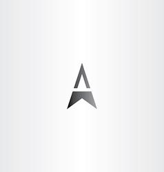 letter a arrow black symbol vector image vector image