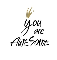 You are awesome Modern brush calligraphy vector image vector image