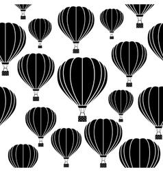 Aerostat balloon Seamless pattern vector
