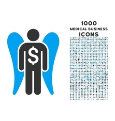 Angel Investor Icon with 1000 Medical Business vector image