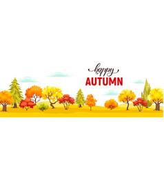 Autumn park veiw vector