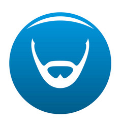 Beard and whiskers icon blue vector