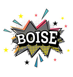 boise comic text in pop art style vector image