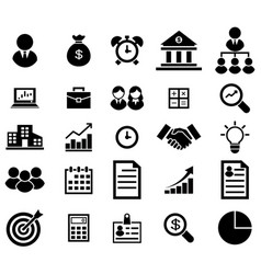 business icon set vector image