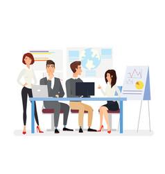 Business meeting flat top vector