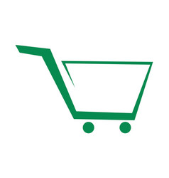 cart trolley abstract logo icon vector image