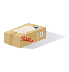 cartoon mailed package vector image