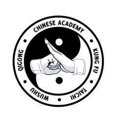 chinese martial academy symbol vector image