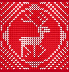 christmas knitting vector image