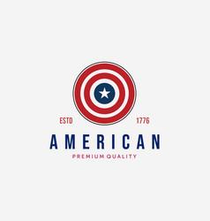 Circle american flag logo captain america vector